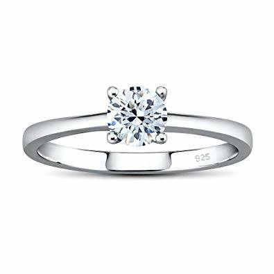 Miglior anello di fidanzamento economico - Silvego Anello di Fidanzamento in Argento 925 con Swarovski