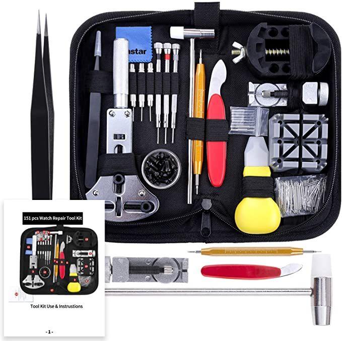 Vastar 151 PCS Kit Riparazione Orologi