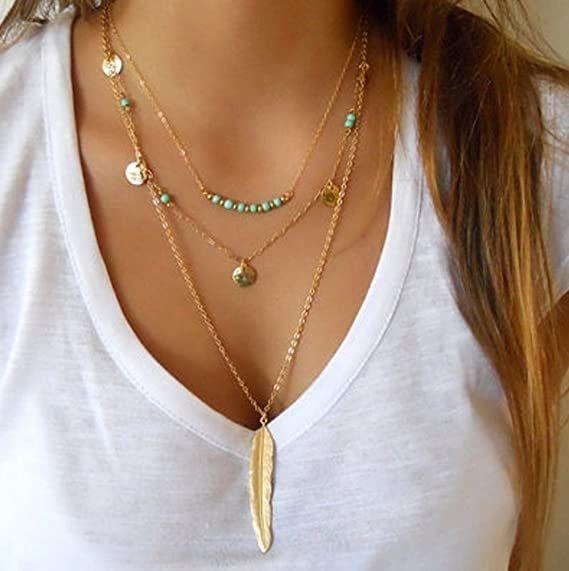 Collane estive: Yean collana lunga multistrato