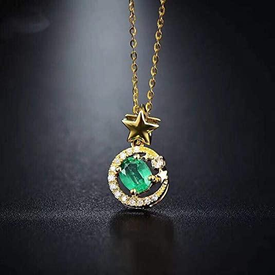 Gioielli smeraldo vintage orecchini taglio smeraldo naturale orecchini pendenti collana ciondolo in argento sterling donna regalo smeraldo