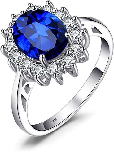 JewelryPalace Principessa Diana William Kate Natuarle Ametista Citrino Granato Peridoto Topazio Sintetico Zaffiro Rubino Smeraldo Anello di 925 Argento Sterling