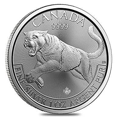 """Predators 2016""""Cougar"""" 1 OZ (31,1 gr.) Silver Coin Moneta Coguaro"""