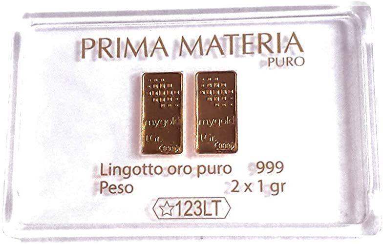 Prima Materia Due Lingotti da 1 gr l'Uno PM-GR2