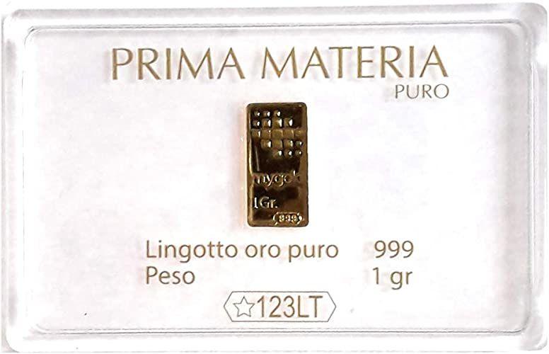 Prima Materia Oro Puro 999 in Lingotto da 1 gr