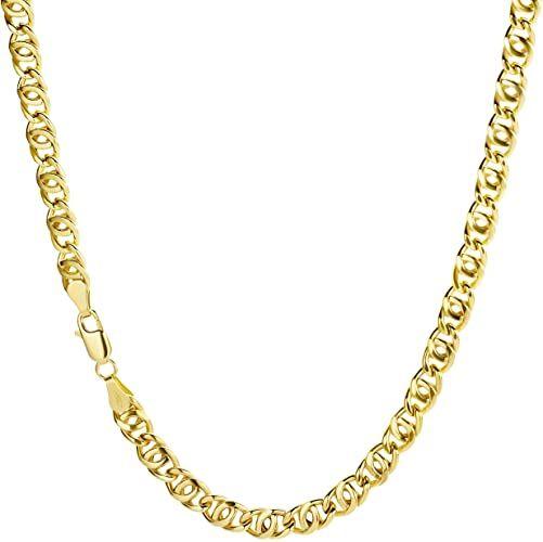 Prins Jewels 18 kt/750 8er catena collana in oro giallo – Larghezza 5 mm