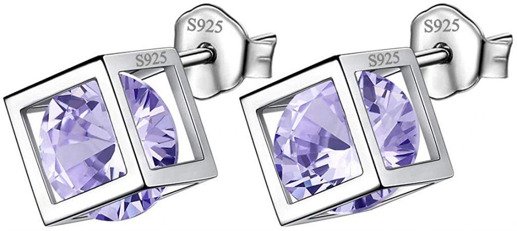 Aurora Lacrime in argento Sterling 925 con pietra portafortuna per donne e ragazze