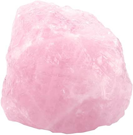 CrystalTears - 1 pietra di quarzo rosa grezzo grezzo per avvolgere fili, lucidare, Tumbling, Reiki e Wicca