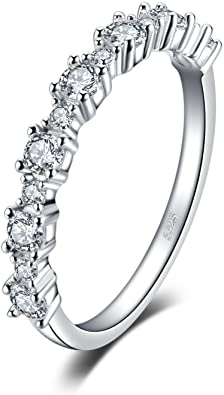 JewelryPalace Cubic Zirconia Fascia Anello in 925 Sterling Argento