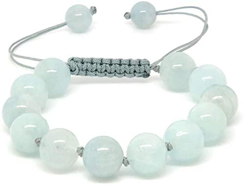 Jiveli bracciale 10mm perline gemma macrame regolabile annodato - adatto per bambini e adulti - per chakra, reiki, birthstone, bilancio energetico