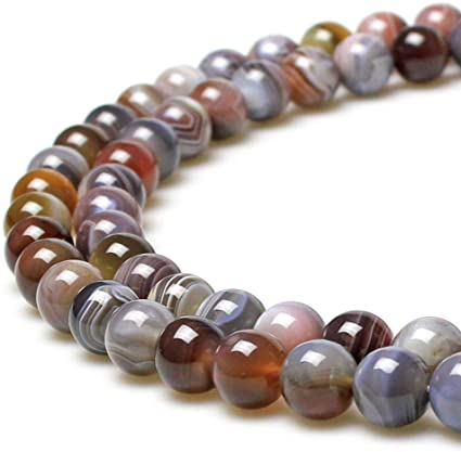 jartc Perline per Braccialetti Energetico Braccialetto Yoga Braccialetto Fai da Te Perle di Pietra Agata Persiana 38 Pezzi, 34CM,10 mm