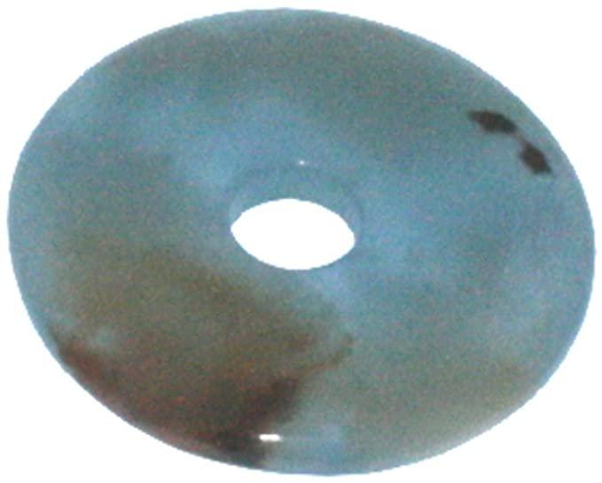 1. Donut Aragonite blu ca. 30 mm diametro foro ca. 6 mm spessore 4 mm.