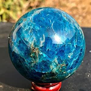 ACEACE 45-50MM Naturale Blu Apatite Sfera di Cristallo Pietra di guarigione Reiki Palla