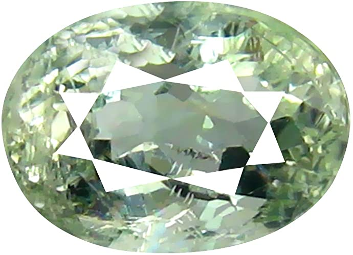 Berillo verde Sciolto Gemme 1.29 ct AAA Grade Oval Shape (8 x 6 mm) Brazilian Green Beryl Genuine Loose Gemstone
