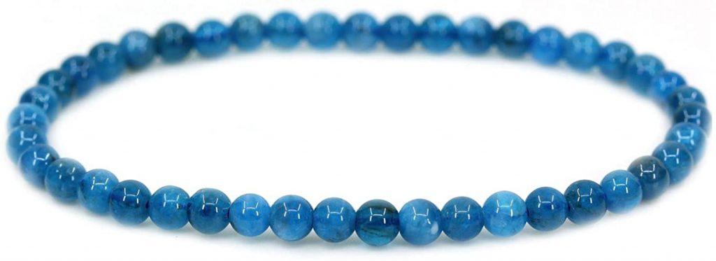 CHENYUE, bracciale elastico con pietre rotonde semipreziose da 4 mm, circonferenza 17,8 cm, unisex