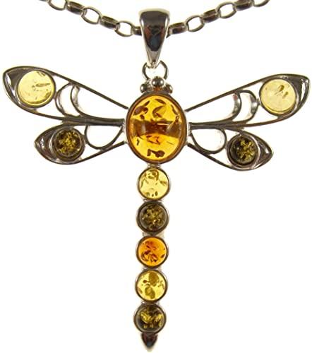 Ciondolo pendente naturale baltica e collana girocollo argento 925