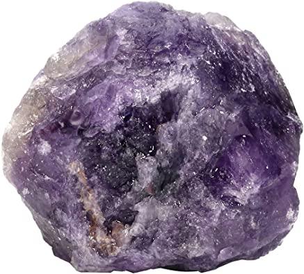 CrystalTears 1 Pezzo di Cristallo Ametista Grezza Curativa al Quarzo Grezzo per Avvolgere Il Filo, lucidare, lucidare, Tumbling, Reiki e Wicca