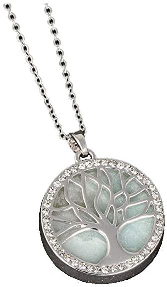 Equilibrium, collana di amazzonite con albero della vita