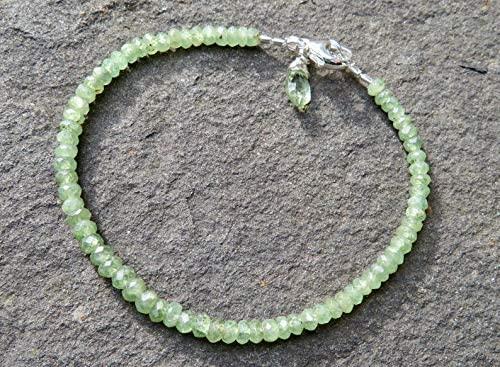Love Kush Jewelry - Braccialetto in granato Demantoide, colore: Verde granato