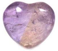 Mini cuore di cristallo in ametrina, 2,5 cm