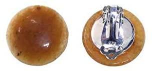 Orecchini Cabochon 20 mm in argento Sterling 925, Aragonite