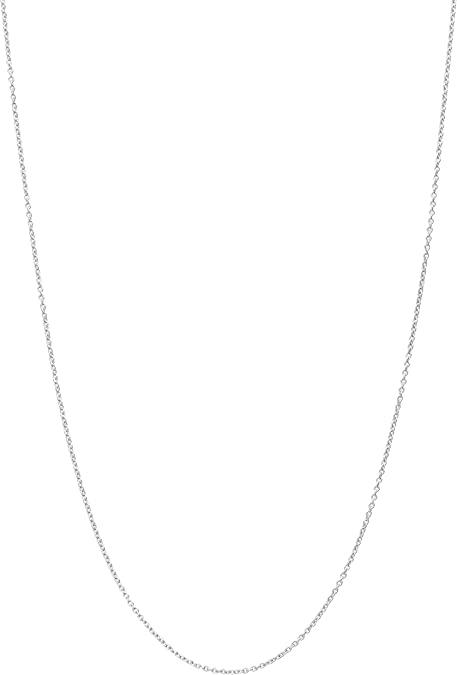 ASOLOGOLD Elegante collana in platino bianco massiccio (titolo 950) tipo Rolò