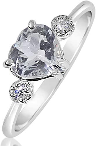 Anello Donna Fidanzamento Oro e Diamanti Oro Bianco 9 Carati 375 Diamanti 0.03 Carati - Acquamarina 1 Carati Clicca su MILLE AMORI blu e scopri tutte le nostre collezioni