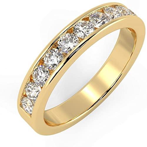 100% naturale certificato (1/3ct - 1/2ct) con diamante rotondo brillante in oro giallo 18 carati marchiato