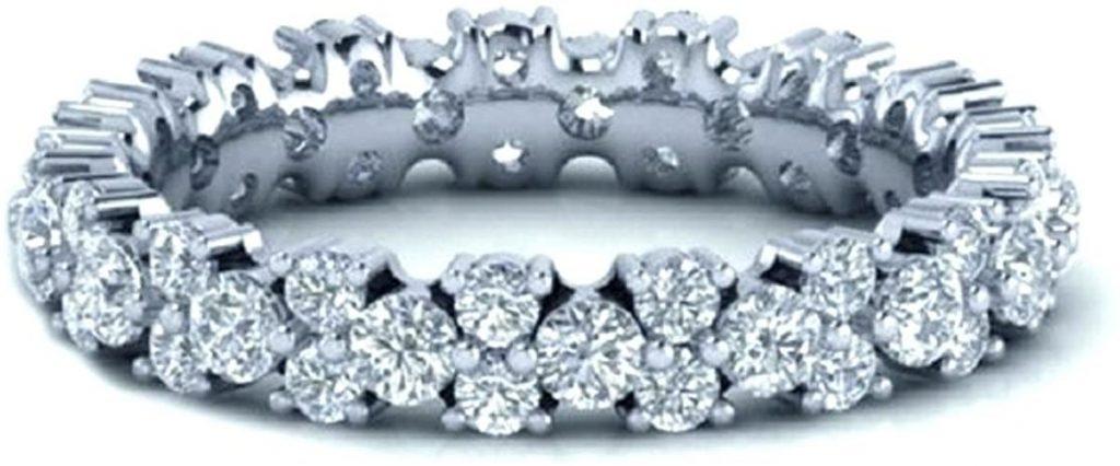 In oro bianco con diamanti rotondi da 1,40 carati del firmato Full Eternity