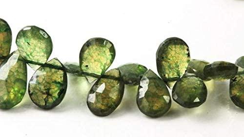 LOVEKUSH LKBEADS - Briolette a goccia mm a 14 mm, a scelta tra 10 perline sciolte verde naturale Kelly, codice HIGH-61249