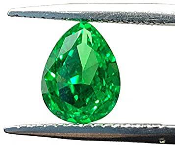 Pietre sintetiche create in laboratorio a forma di pera 7 x 9 mm taglio diamante sciolto