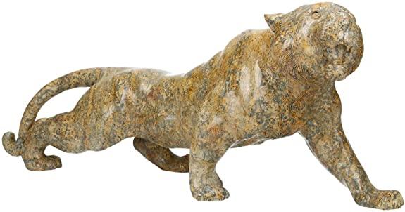 Tiger 45 x 17 x 12 cm in diaspro leopardato
