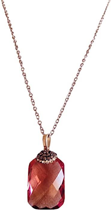 Zultanite - Collana in zultanite con ciondolo a forma di variazione di colore turco, con pietra zultanite, gioiello da donna che cambia colore