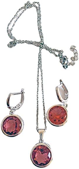 Zultanite - Set di gioielli in zultanite con pietre di zultanite e pietre zultanite che cambiano colore, da donna