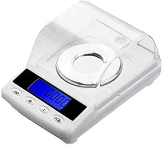 Bilancia digitale tascabile per gioielli Bilancia di precisione multifunzione portatile con ponderazione elettronica mini con display LCD retroilluminato, tara e PCS Caratteristiche 50 g 0,001 g