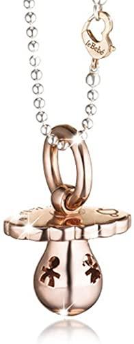 Chiama Angeli Ciondolo Le Bebè - Suonamore - con catena e sagome traforate in argento 925% e diamante