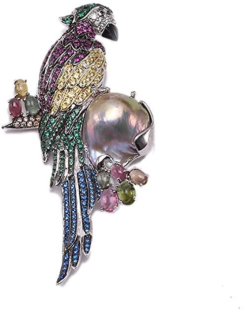 JYX Pearl Jyx fine parrot-style lavanda barocco perla ciondolo spilla