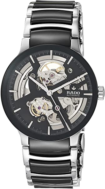 RADO MEN'S CENTRIX 38MM CERAMIC BAND STEEL CASE AUTOMATIC WATCH R30178152